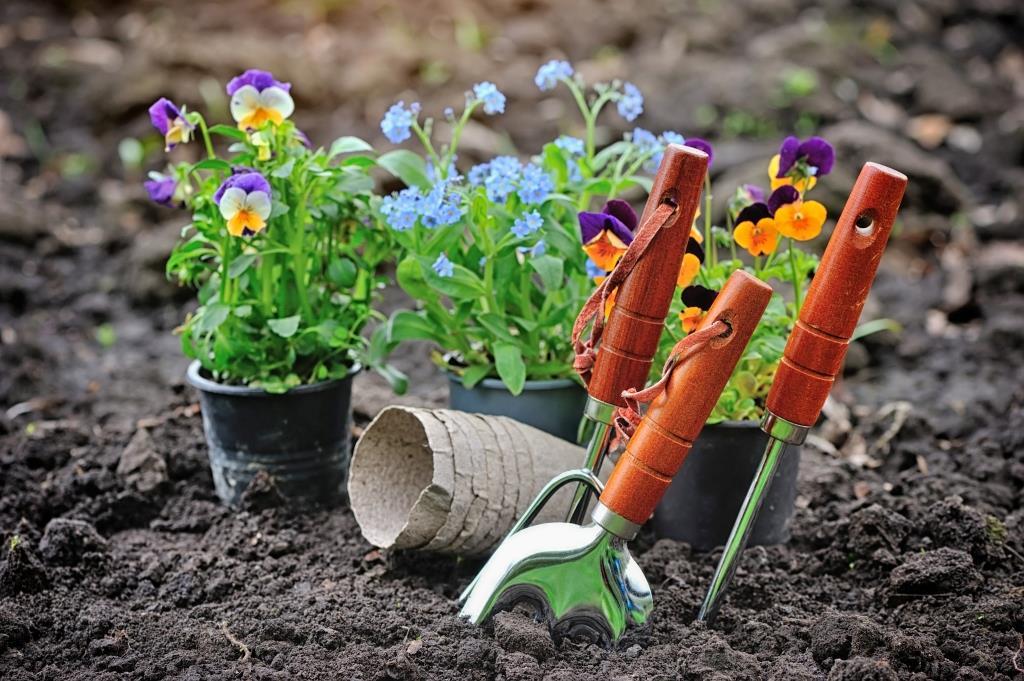 малка градина градинарски инструменти